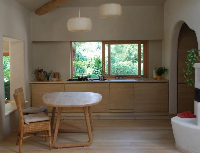 Cucina in rovere sbiancato con top in pietra - bottegalegnobottegalegno