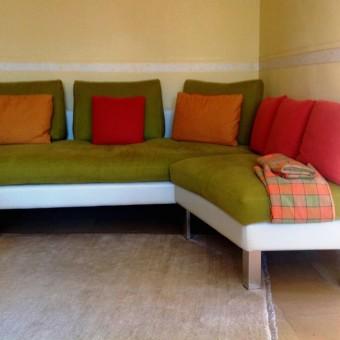 divano con imbottiture naturali