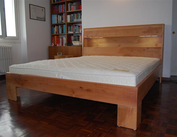 letto in legno di pero modello arca