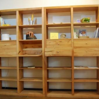 Libreria aura modulare in legno di pero francese