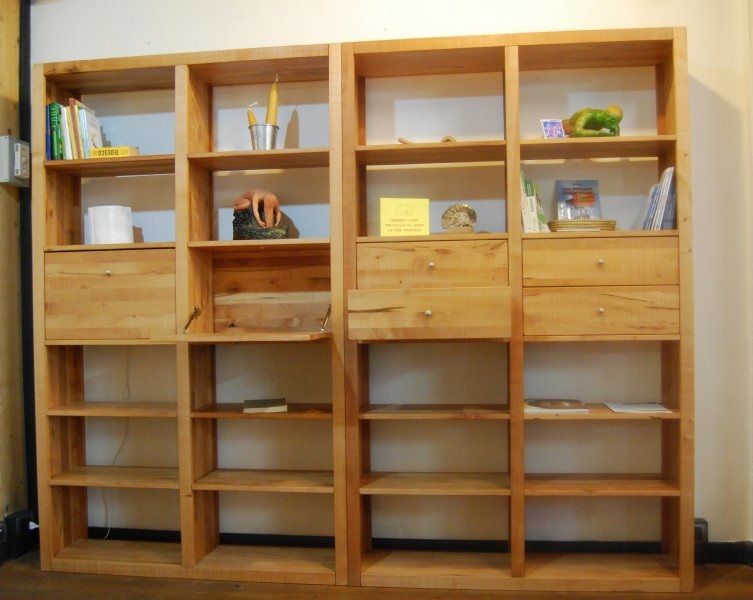 Librerie mobili soggiorno bottegalegnobottegalegno for Mobili soggiorno legno
